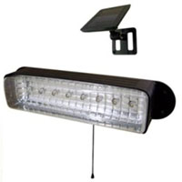 High Quality Outdoor 8-LED  Solar Powered Shed Light
