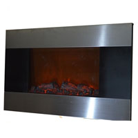 "Brand new 36"" Wall Mounted Stainless Panel Electric Fireplace Heater 1500W, 5200BTUs 510DL"
