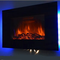 Brand New 36-inch Wall Mounted Modern Electric Fireplace Heater LED Color Remote Control