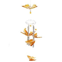 Set of Two Butterfly Solar Powered Color Changing Wind Chime Lights