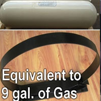 3,000 PSI Type 1 Steel CNG Tank w/ Mounting Bracket - 9 Gallon Equivalent