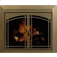 Brand New Residential Retreat Fairmont Fireplace Door