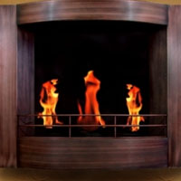 High Quality Gel Fueled Wall Mount Fireplace Oil Rubbed Bronze Finish