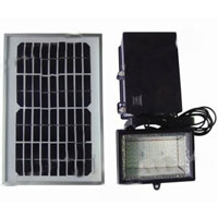 High Quality 54-LED Superbright White Solar Powered Flood & Security Light