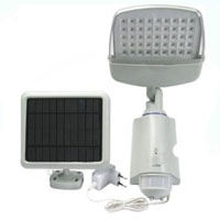 High Quality Plastic 45-LED Super Bright White Solar Powered PIR Sensor Wall & Security Light