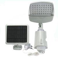High Quality Plastic 45-LED Super Bright White Solar Powered PIR Sensor Wall & Security Light