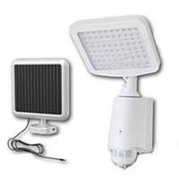 High Quality Plastic 80-LED Super Bright White Solar Powered PIR Sensor Wall & Security Light