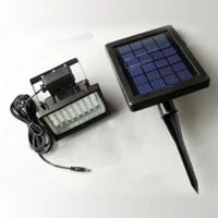High Quality 28-LED Solar Powered Flood Wall and Security Light