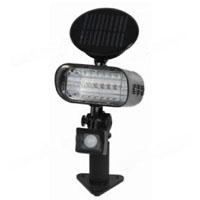 Metal 6-LED Solar Powered PIR Sensor Security Light