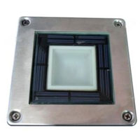 Square Stainless Steel Solar Powered Deck Light