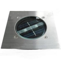 Square Stainless Steel / Die-Cast Aluminum Solar Powered LED Light