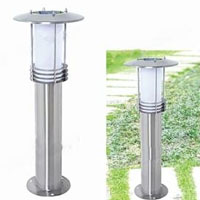 High Quality Stainless Steel 0.3W Solar Powered White LED Garden and Lawn Light
