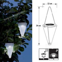 Set of 3 Environmental Protection LED Solar Powered Garden Lights