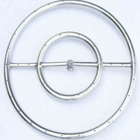 High Grade 18in SS Fire Pit Ring Burner Kit with Pan