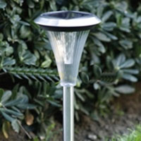 Set of 12 Stainless Steel 2-LED Solar Outdoor Lights