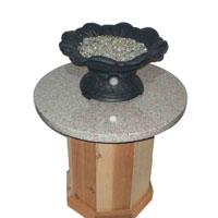 High Grade Patio Pleasures Fire Pit Cedar Base