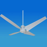 Solar Powered 12/24 Volt Ceiling Fan with 4 Blades