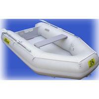 11' White Inflatable Boat with High Pressure Air Deck Floor