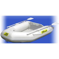 6.5' White Inflatable Boat with High Pressure Air Deck Floor