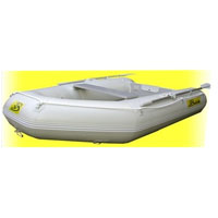 7.5' White Inflatable Boat with High Pressure Air Deck Floor