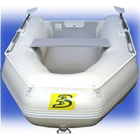 8.5' White Inflatable Boat with High Pressure Air Deck Floor