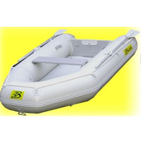 9.5' White Inflatable Boat with High Pressure Air Deck Floor