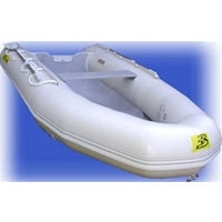 12' White Inflatable Boat with High Pressure Air Deck Floor