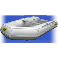 11' White Inflatable Boat with Coated Wooden Panel Floor