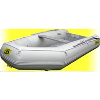 9.5' White Inflatable Boat with Coated Wooden Panel Floor