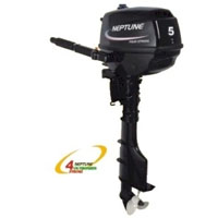 Neptune 5 HP 4 Stroke Short Shaft Outboard Boat Motor