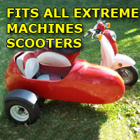 Extreme Machines Side Car Scooter Moped Sidecar Kit