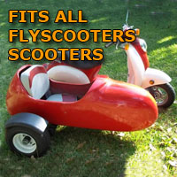 Flyscooters Side Car Scooter Moped Sidecar Kit
