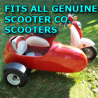 Genuine Scooter Company Side Car Scooter Moped Sidecar Kit