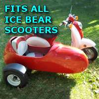Ice Bear Side Car Scooter Moped Sidecar Kit