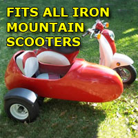 Iron Mountain Side Car Scooter Moped Sidecar Kit