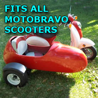 Motobravo Side Car Scooter Moped Sidecar Kit