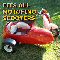 Motofino Side Car Scooter Moped Sidecar Kit