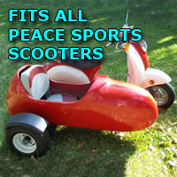 Peace Sports Side Car Scooter Moped Sidecar Kit