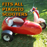 Piaggio Side Scooter Moped Sidecar Kit