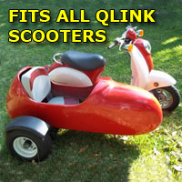 Qlink Car Side Scooter Moped Sidecar Kit