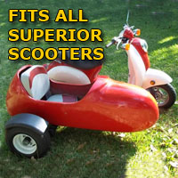 Superior Side Car Scooter Moped Sidecar Kit