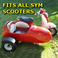 Sym Side Car Scooter Moped Sidecar Kit