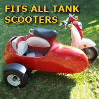 Tank Side Car Scooter Moped Sidecar Kit