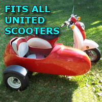 United Side Car Scooter Moped Sidecar Kit
