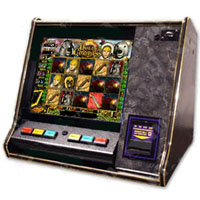 "Dual Game Cherry Master Switcher System With 19"" LCD Countertop Cabinet"