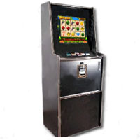"Dual Game Cherry Master Switcher System With 19"" LCD Standard Trimline Cabinet"
