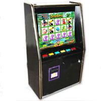 """Dual Game Cherry Master Switcher System With 19"""" LCD Wall Mount Cabinet"""