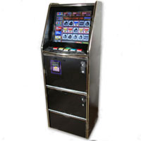 "Dual Game Cherry Master Switcher System With 19"" LCD Mini Trimline Cabinet"