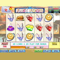 Fast Food Cherry Master LCD Video Slot Machine Game