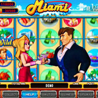 Miami Cherry Master LCD Video Slot Machine Game